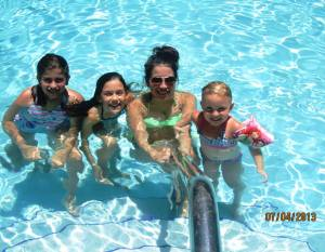 Some of the kiddos at the pool