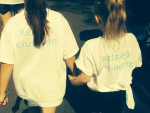 Gianna and a friends daughter walking for Kelsie!