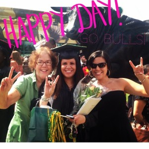 My sissy pantalones graduated from USF! So pround of her!